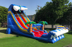 26' Shark Attack Dual Lane Water Slide