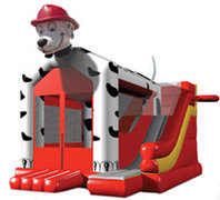 Dalmatian Combo Bounce House with Slide