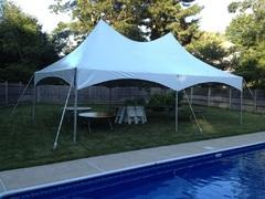 20 X 30 High Peak Frame Tent, Table, Chair Package