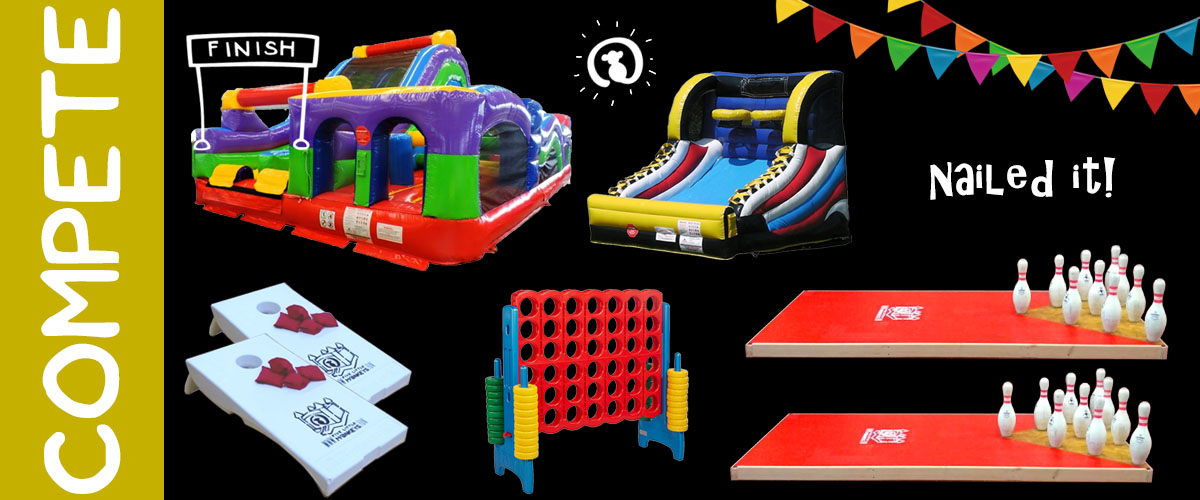 Party Rentals - Fowling Rental and Obstacle Course & Inflatable Game Rental in Michigan