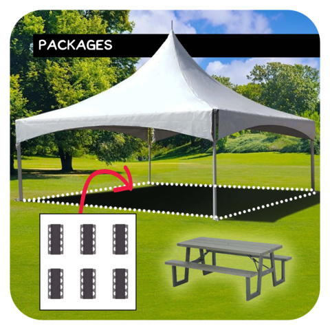20'x20' Tent/Canopy + 6 Picnic Tables