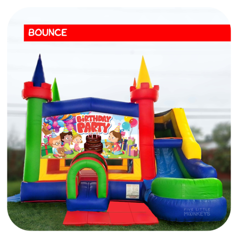 Birthday Party Bounce House & Slide Combo Rental