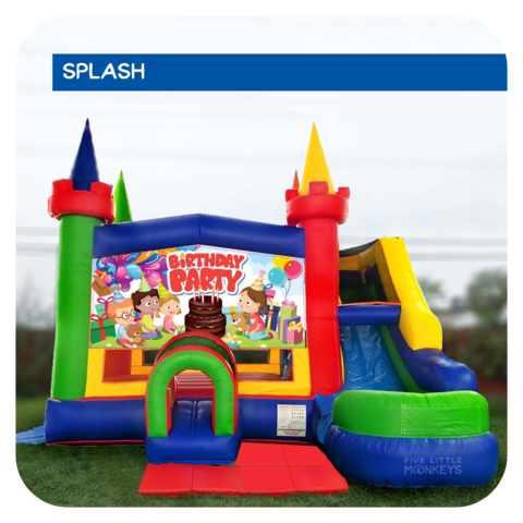 Birthday Party Water Slide & Bounce House Combo
