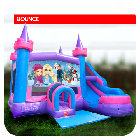Frozen Bounce House & Slide Combo Rental