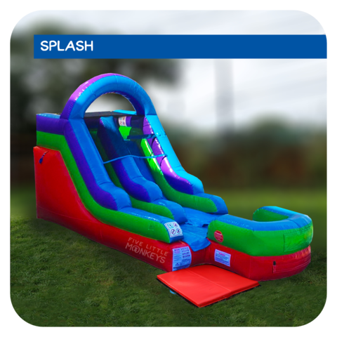 Galactic Splash 13'H Inflatable Water Slide