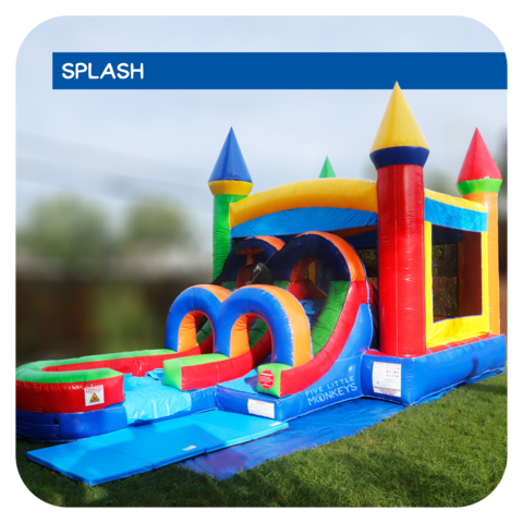 Gumball Splash Jr Water Slide & Bounce House Combo Rental