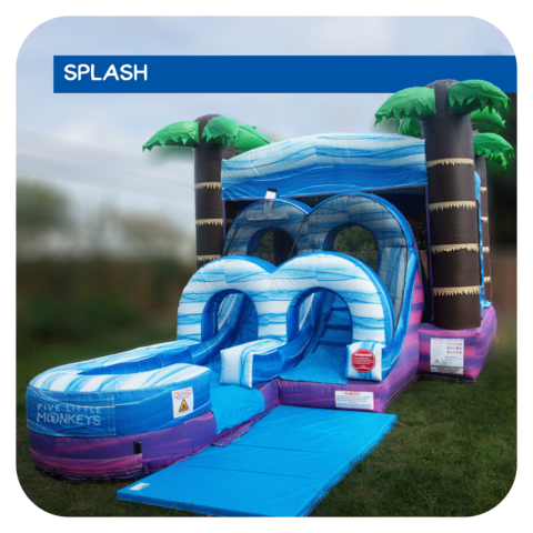 Jamaican-Me-Crazy Jr Water Slide & Bounce House Combo Rental