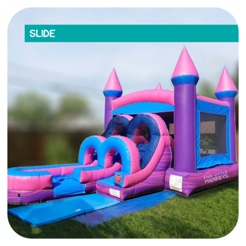 Junior Princess Slide & Bounce House Combo