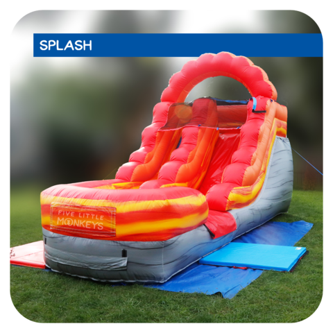Lava Splash 13'H Inflatable Water Slide Rental