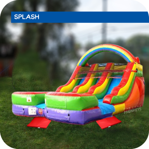 Lucky Splash Dual-Lane Water Slide Rental