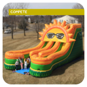 Mega Sun Inflatable Dual-Lane Slide Race