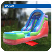 Big Galactic Splash 16'H Inflatable Water Slide