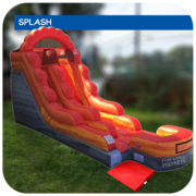 Big Lava Splash 16'H Inflatable Water Slide