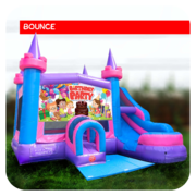 Birthday Girl Bounce House & Slide Combo