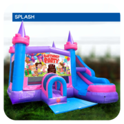 Birthday Girl Water Slide & Bounce House Combo