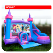 Frozen Bounce House & Slide Combo