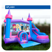 Frozen Water Slide & Bounce House Combo