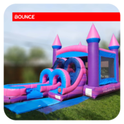 Junior Princess Bounce House & Slide Combo