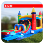 Junior Rainbow Bounce House & Slide Combo