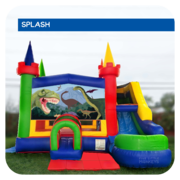 Jurassic Dinosaur Water Slide & Bounce House Combo