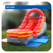 Lava Splash 13'H Inflatable Water Slide