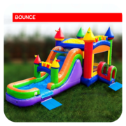 Mega Palace Bounce House & Slide Combo