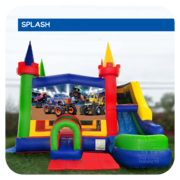 Monster Truck Water Slide & Bounce House Combo
