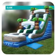 Palm Island 16'H Inflatable Slide