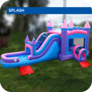 Pink Palace Water Slide & Bounce House Combo