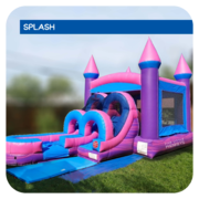 Pretty-in-Pink Jr Water Slide & Bounce House Combo