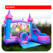 Princess Bounce House & Slide Combo