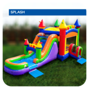 Prism Palace Water Slide & Bounce House Combo