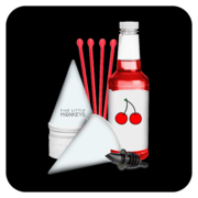 Snow Cone Cups/Straws/Syrup: 25 Servings - Wild Cherry