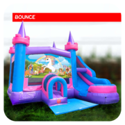 Unicorn Bounce House & Slide Combo