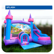 Unicorn Water Slide & Bounce House Combo