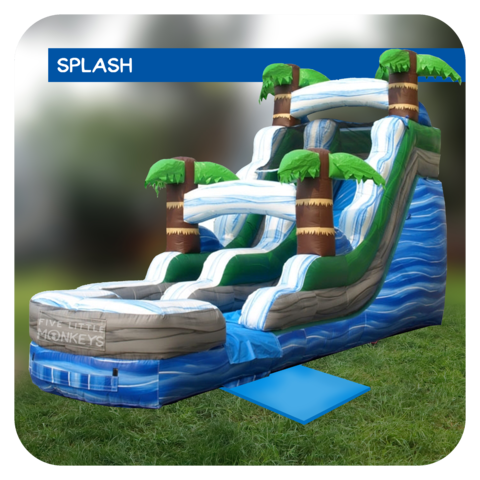 Palm Beach 16'H Inflatable Water Slide Rental