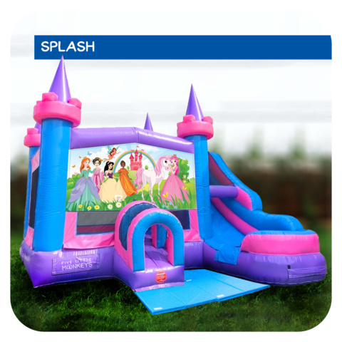 Princess Water Slide & Bounce House Combo