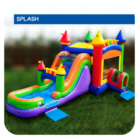 Prism Palace Water Slide & Bounce House Combo Rental