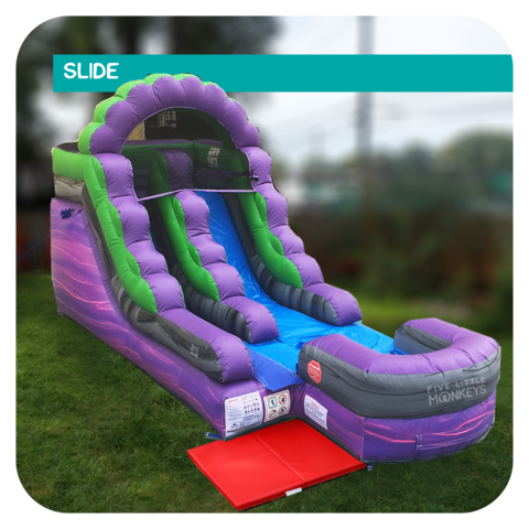 Purple Dinosaur 13'H Inflatable Slide