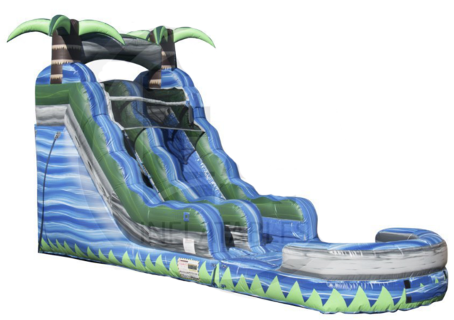 16 ft Blue Crush Water Slide - WS-16-100