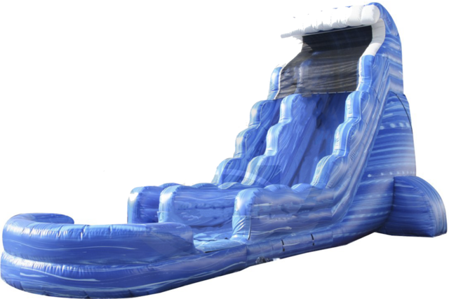 22 ft Big Blue Single Lane Water Slide