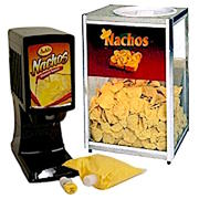 Nacho Cheese Dispenser with Chips Warmer