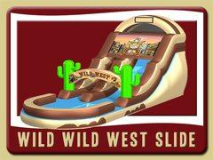 Wild West 16 ft wet/dry slide with pool