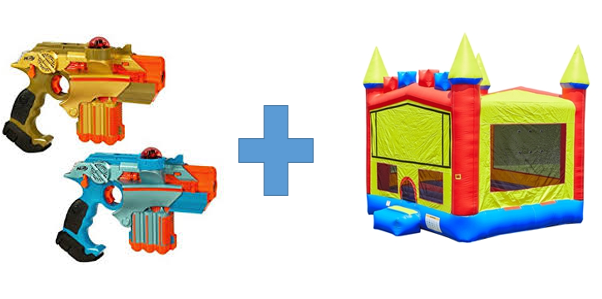 Freedom Bounce Castle + 10 Phoenix Laser Tag Guns Special - Limited Time Offer