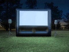 Inflatable Movie Screen 12x7 & Blower - hidden