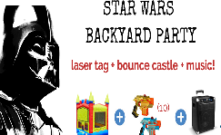 Star Wars Laser Tag & Bounce Castle
