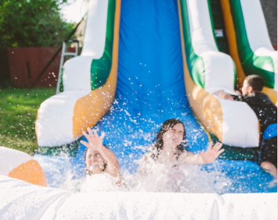 Water Slide + Water Tag Deal (Overnight Rental)