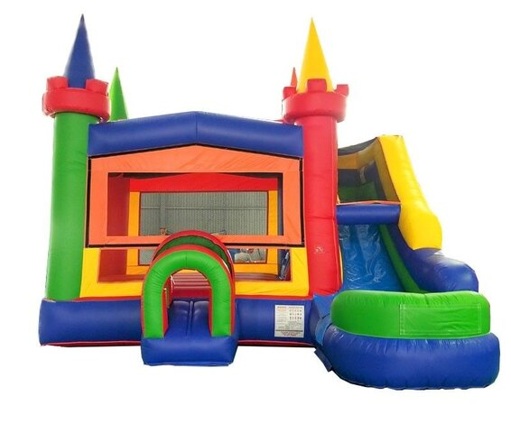 Epic water slide combo bounce house with easy entrance