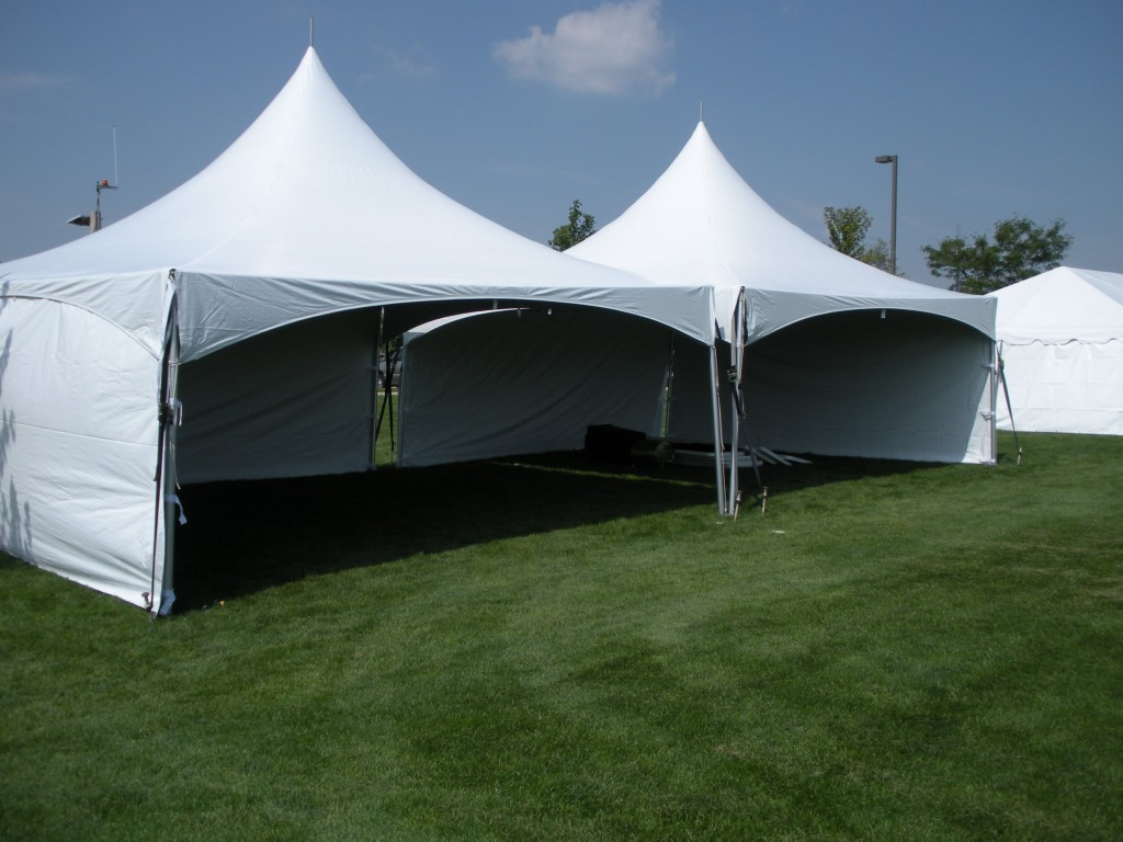 40' x 20' tent rental with side walls attached