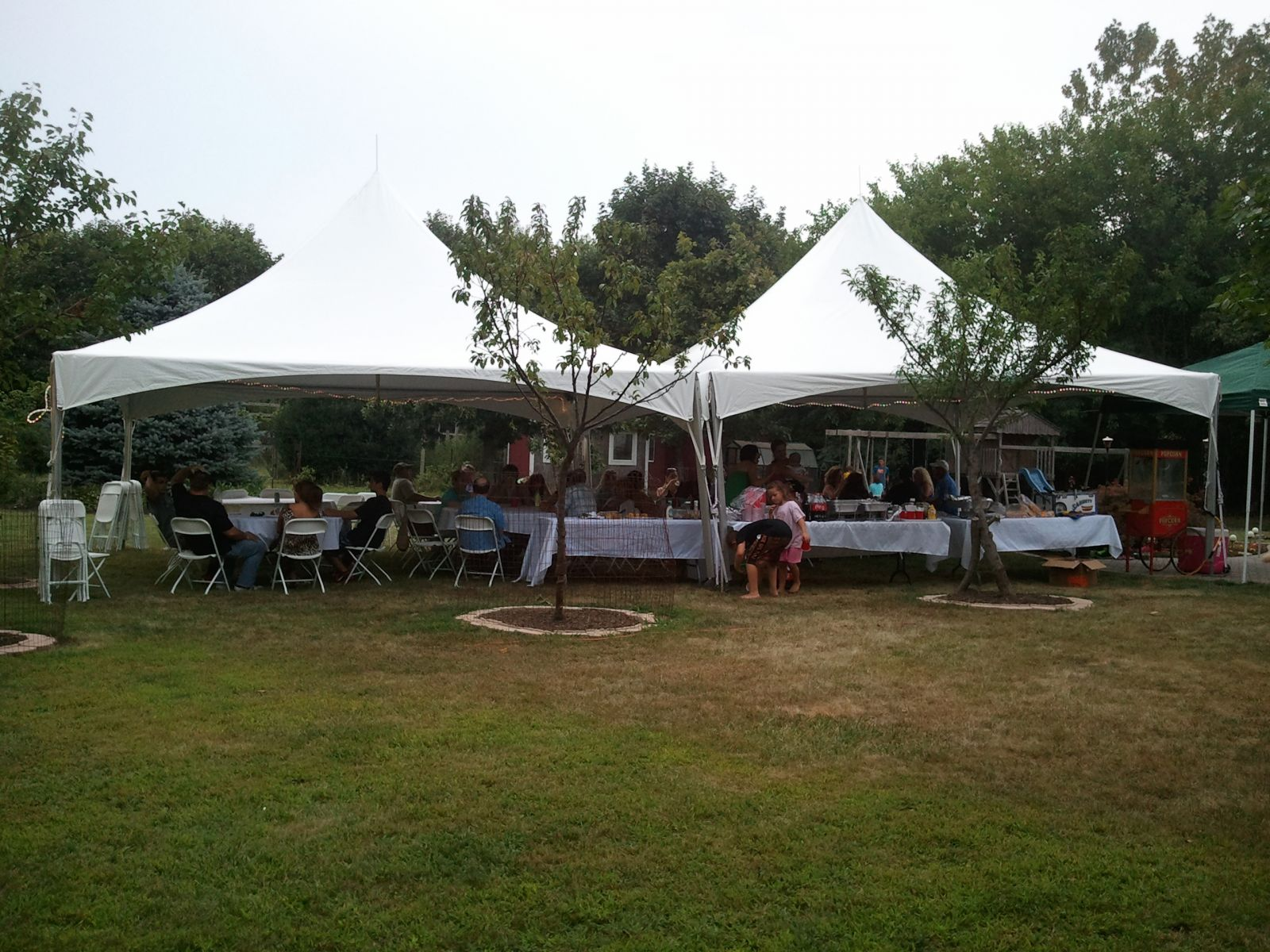 40 foot by 20 foot tent rental for graduation party or other event